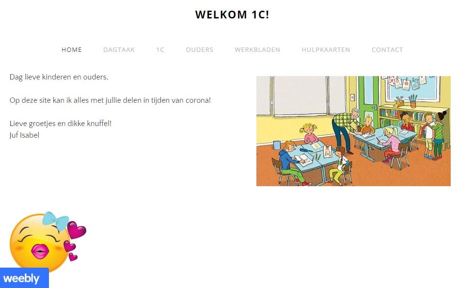 startscherm website