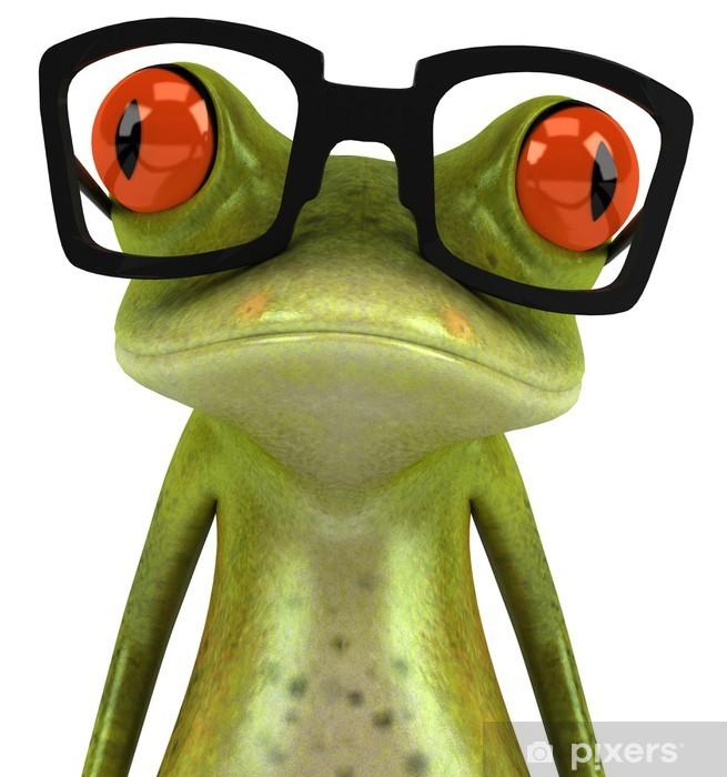 Grenouille avec des lunettes